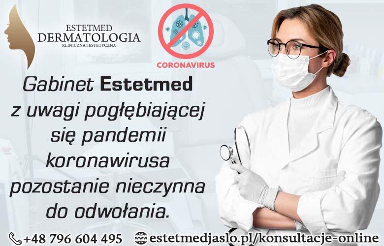 Gabinet nadal zamknięty, przyczyną pogłębiająca się pandemia koronawirusa